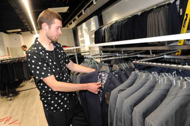 08ca40e9d9 Pictured is Lee Warriner store manager of Suits Direct at Princes Quay s new  outlet deck